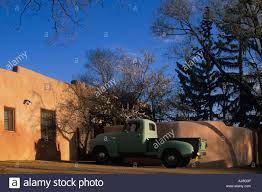 USA New Mexico Santa Fe Old 1950 S Era Chevrolet Pickup Truck Parked ...