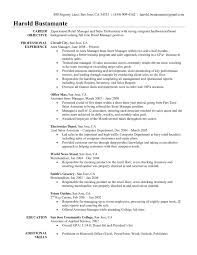 Automotive Store Manager Resume Examples Luxury Modern Objective Weoinnovate