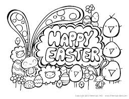 Happy Easter Coloring Pages Page Cute X Free Printable