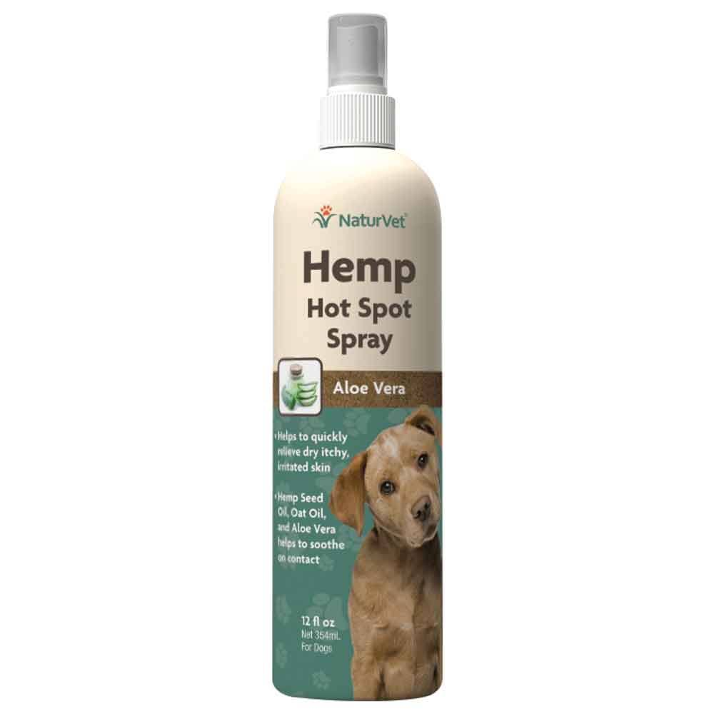 NaturVet Hemp Hot Spot Spray for Dogs - 12 oz