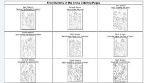 Stations Of The Cross Coloring Pages Screen Shot