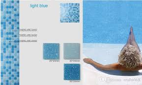 2018 glass mosaic tile for swimming pool tile blue color wall tile