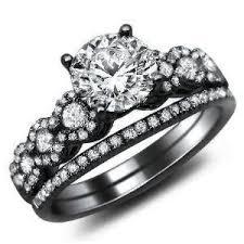 Amazon 1 26ct Round Diamond Engagement Ring Bridal Set 18k Black Gold with
