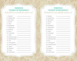 Bridal Shower Word Scramble Game Printable
