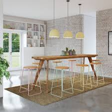Modern Rustic Urban Mid Century Bar Bench Kitchen Dining Table Island Desk Console Workbench Breakfast