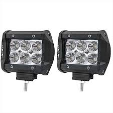 lightfox 2pcs 4inch 18w flood cree led light bar offroad pods