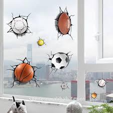 Syene New Room Decor 5d Wall Stickers Football Basketball Baseball Paper Border For
