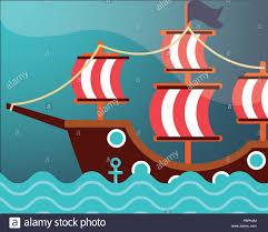 100 Design A Pirate Ship Nautical Maritime Design Degrade Background Pirate Ship Sea Vector