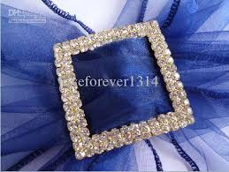 Diamante Chair Sash Buckles by Quanlity Guarantee Low Price Wedding Chair Sash 5cm Square Gold A
