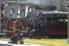 5 Dead, 25 Injured In Florida Crash Between Bus And Truck - NBC News Vehicle Towing Hauling Jacksonville Fl And St Augustine Home Metal Restoration Truck Shing Boat Polishing Ocala New Daycabs For Sale In Ga Heavy Lakeland Central I4 Commercial Ice Cream For Sale Tampa Bay Food Trucks Med Heavy Trucks 2010 Freightliner Columbia Sleeper Semi Florida Ford Vehicles In West Palm Beach Serving Miami I95 Inrstate Highway Semi Tractor Trailer Truck Used For Trailers