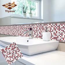 self adhesive mosaic fliesen wand aufkleber aufkleber diy küche bad home decor vinyl w5