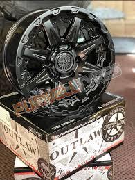 100 Truck Rims 4x4 17 Inch American Outlaw Doubleshot Satin Black