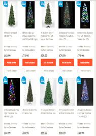 6ft Artificial Christmas Tree Tesco by Homebase Christmas Trees Christmas Lights Decoration