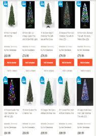 Slimline Christmas Trees Tesco by Homebase Christmas Trees Christmas Lights Decoration