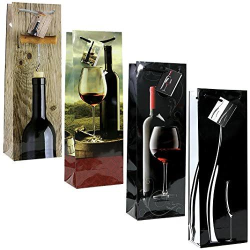 China 12 PC Classic and Modern Wine Gift Bag Set of 4 Designs