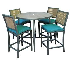 Portofino Patio Furniture Manufacturer by Amazon Com Ae Outdoor All Weather Woodbridge High Dining Set With