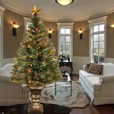 Twinkling Christmas Tree Lights Canada by The 4 U0027 Fiber Optic Twinkling Tree Hammacher Schlemmer