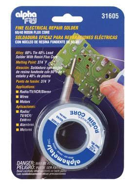 Alpha Metals Lead Electrical Solder - 4oz
