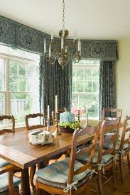 Marvelous Valance Ideas In Dining Room Rustic With Window Treatments Next To Pinched Pleated Drapery