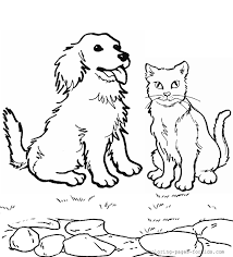 Cute Baby Animals Dog Cat To Color