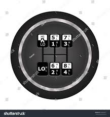 Shifting Pattern On Knob 18 Speed Stock Illustration 470244281 ...