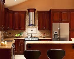 Backsplash Ideas For Dark Cabinets by Kitchen Backsplash Dark Cabinets