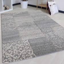 teppich wohnzimmer modern grau muster mit konturen my7425g