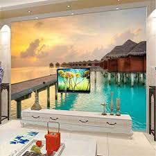 nidezuiai wandbild anpassen 4d tapeten sea house holz