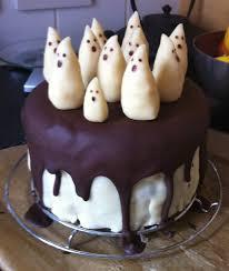 gâteau fantôme pate d amande glaçage chocolat gateau