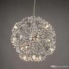 großhandel löwenzahn led kronleuchter europäischen kreative k9 kristall löwenzahn blumen pendelleuchte wohnzimmer licht dia 47 cm zxl1012