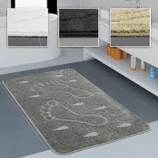 moderner hochflor badezimmer teppich einfarbig badematte in