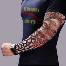 Simulation Tattoo Sleeve Bicycle Sunscreen Arm Long Cuff Cycling Bike Cover Outdoor Sports UV Sun Protection In Gloves From