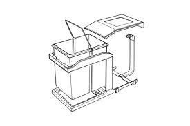 poubelle de cuisine coulissante monobac poubelle coulissante 1 bac à ouverture automatique 20 litres