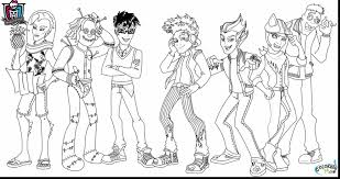 Wonderful Monster High Characters Coloring Pages With Free And