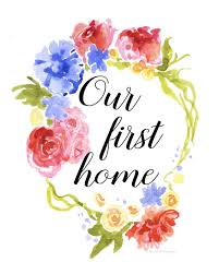 PRINTABLE Wall Art Our First Home By DarolannePhotography On Etsy