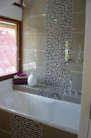 glass tile backsplash modern glass mosaic tile shower with accent