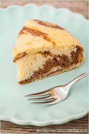 zebrakuchen mit sahne statt butter backen macht glücklich