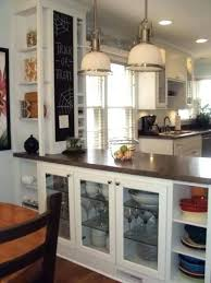 Cabinets Divider Half Height Wall For My House This With On The Kitchen Side