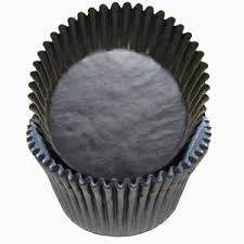 Jumbo Black Cupcake Liners