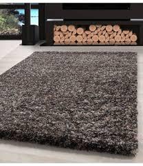 shaggy teppich hochwertig hochflor wohnzimmer taupe grau beige creme meliert