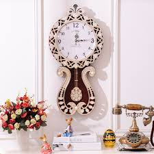 European Modern Style Living Room Decorative Large Wall Clock Pendulum Creative Fashion Art Watch Retro