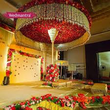 Appealing Indian Wedding Stage Decoration With Flowers 58 For Your Table Numbers
