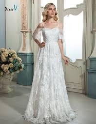 online get cheap lace sleeve wedding dress aliexpress com