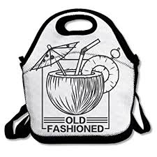 LINGLIII Old Fashioned Drink Simple Lunch Bag For Kids Box Food
