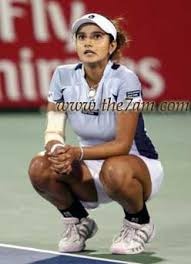 Sania Mirza Of India Reacts After Losing A Set