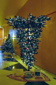 Upside Down Christmas Tree Decorated Decoration Image Idea Inside Trees For Sale