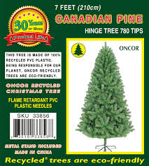 Christmas Tree 7ft Black by 7ft Canadian Pine