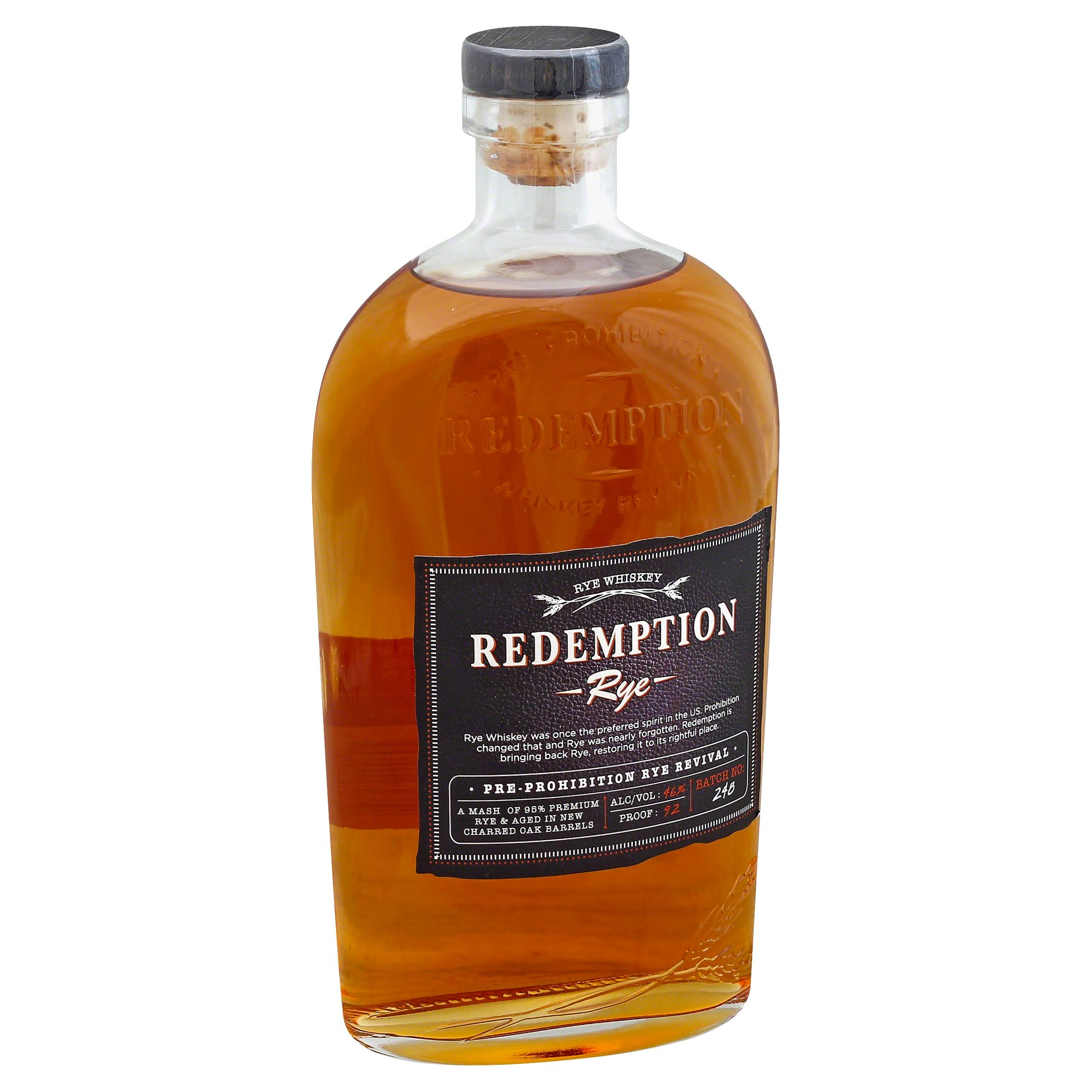 Redemption Rye Whiskey - 750 ml bottle