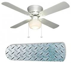 Hunter Contempo Ceiling Fan by Ceiling Fan Design Diamond Plate Silver Garage Pertaining To Fans