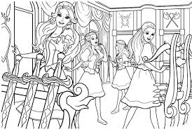 Three Musketeers Barbie In The Practice Room Coloring Pages